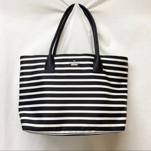 Kate Spade - Black & White Striped Mini Tote Purse